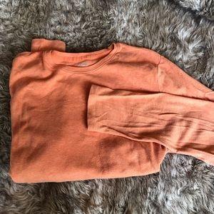 Long sleeve orange T-shirt